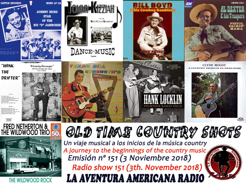 Alberto Basarte: Set-List - Old Time Country Shots – Programas 151 a 165