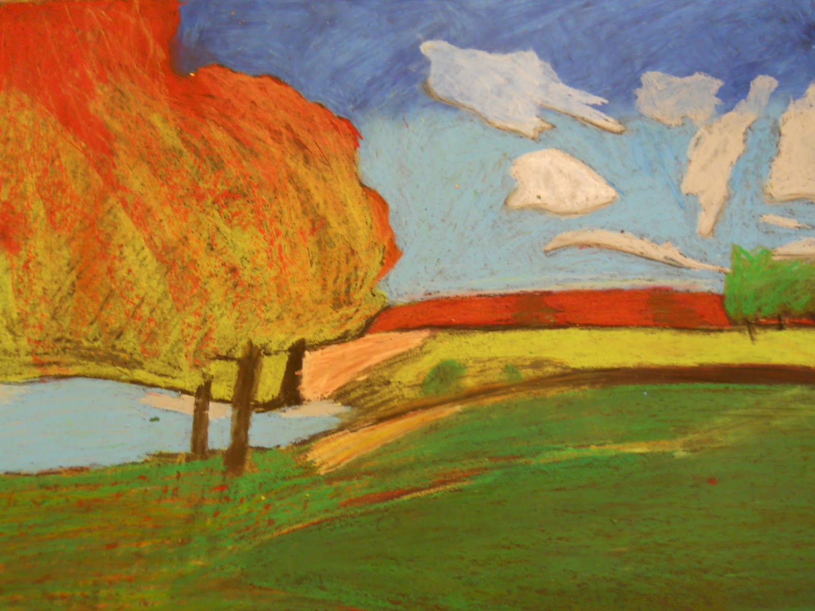 Creative Expressions Landscapes In Oil Pastels