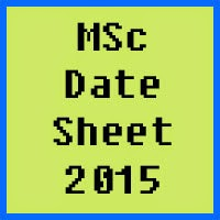 BZU Multan MSc Date Sheet 2017 Part 1 and Part 2