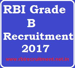 RBI Grade B Recruitment 2017 Latest SO PO Officer Vacancy Apply Online @ rbi.org.in