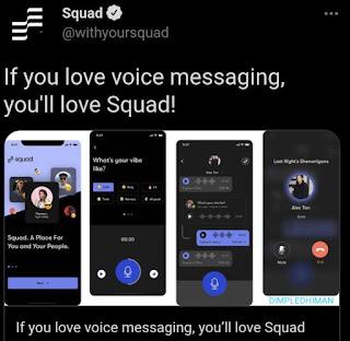 स्क्वाड नामक नया ऑडियो-बेस्ड सोशल ऐप हुआ लॉन्च - डिंपल धीमान