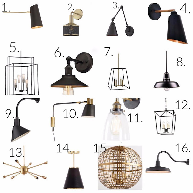 modern farmhouse lighting round up