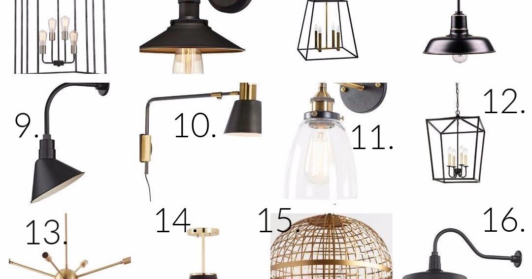 modern farmhouse lighting round up
