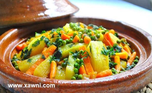 طريقة طبخ طاجين مغربي بلحم الخروف والخضار