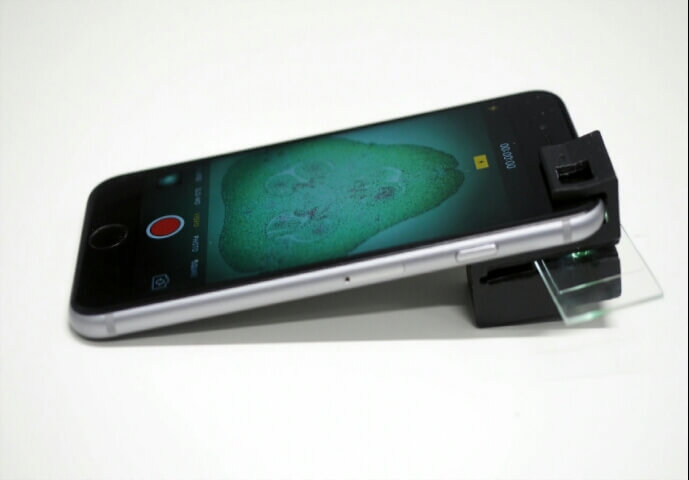 Smartphone Microscope: Simple Add-on Clip Turns Your Smartphone Into a Microscope