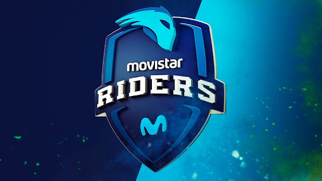 The Movistar Riders 3D logo.