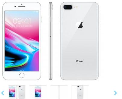 iPhone 8 Plus Apple 64GB Prata 4G