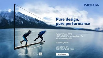 Nokia's first smart TV launched in India