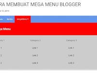 Cara Membuat Mega MENU Pada Tampilan Blog
