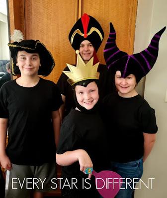 Disney Villains Halloween Party Group Photo