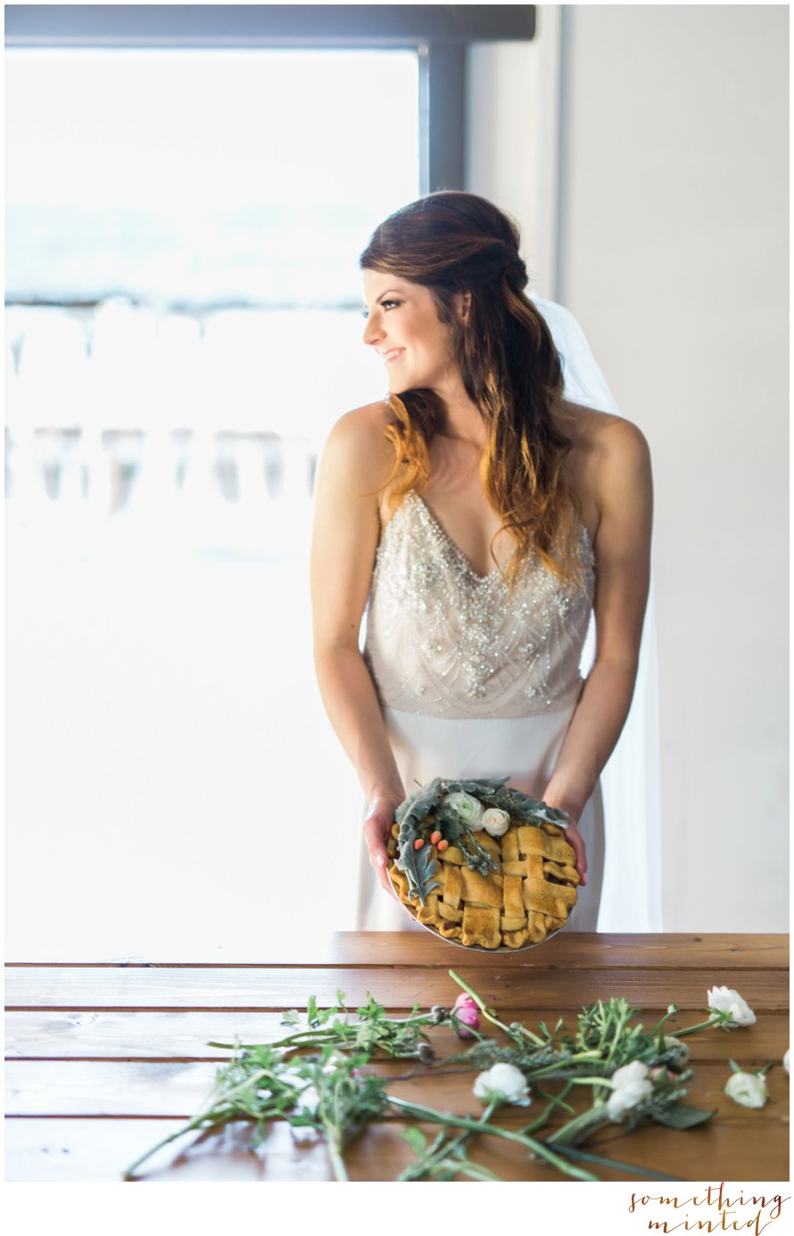 Floral Pie Inspiration by Something Minted Photography