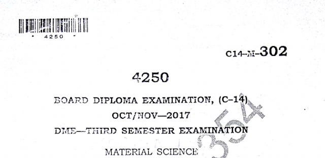 Material Science old question papers oct/nov 2017 sbtetap diploma