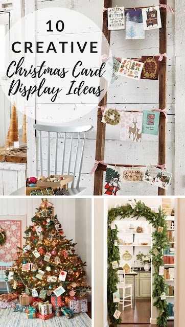 different ways to display christmas cards