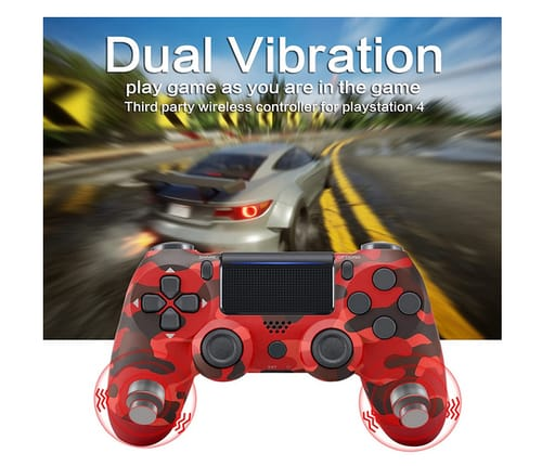 ADHJIE Dual Vibration PS4 Wireless Controller