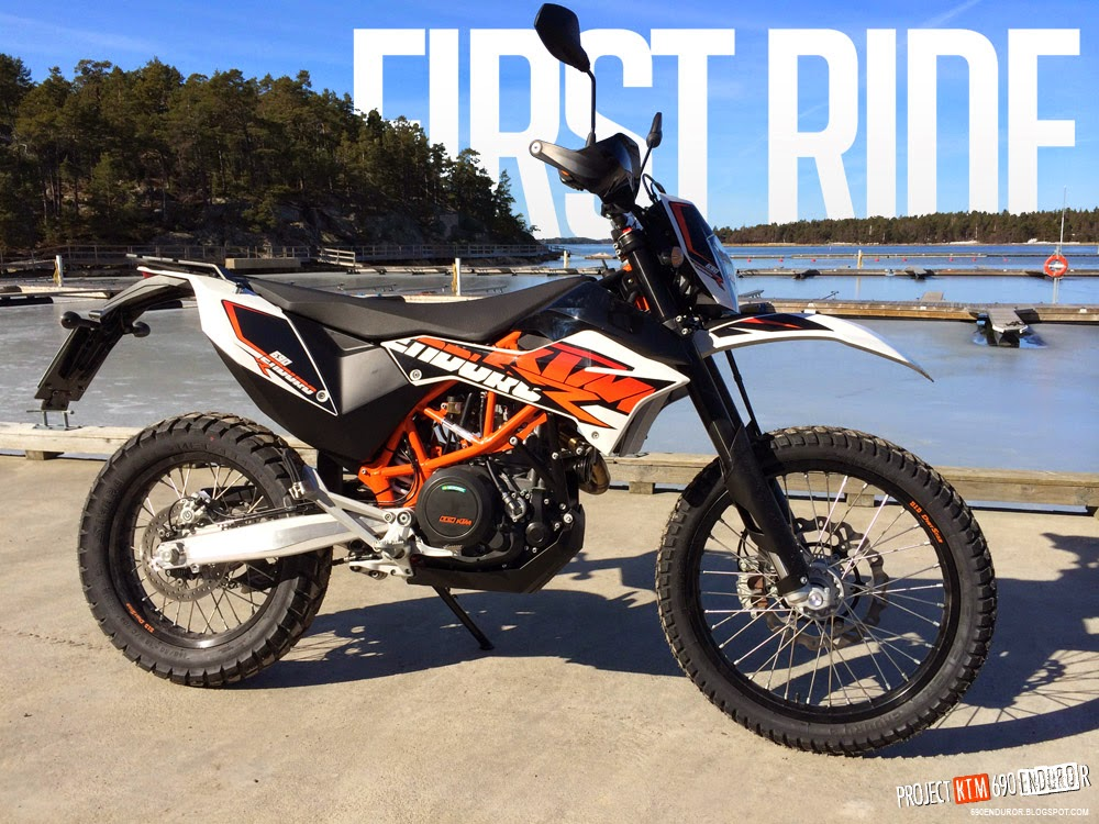 project ktm 690 enduro r first ride