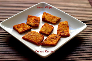 Spicy  Kandagadda Vepudu - Suran Chips - Elephant  Yam tawa Roast