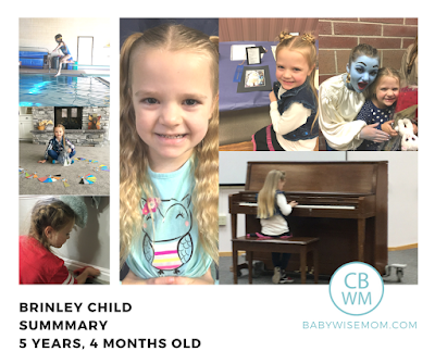 Brinley Child Summary {5 Years 4 Months Old}