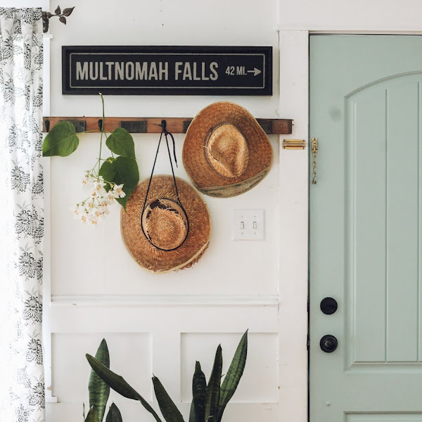 Cottage Style Entryway with Catalpa tree blooms