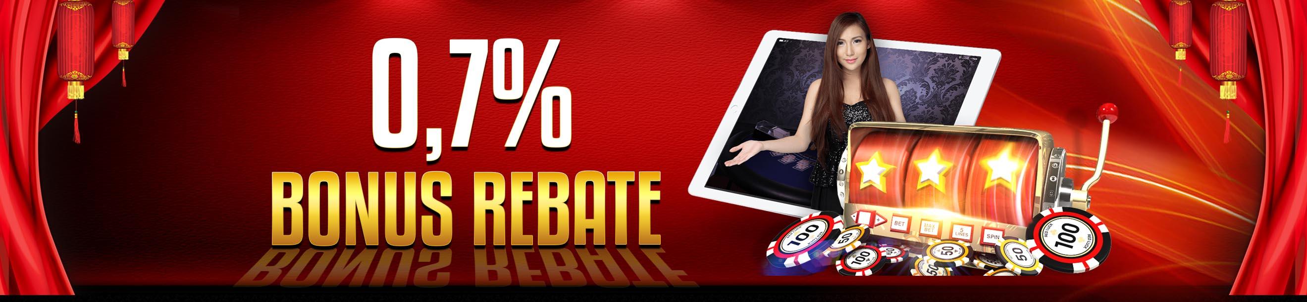BONUS REBATE 0.7%
