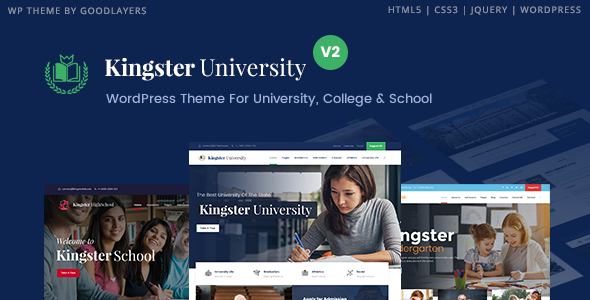 Download v3.0.2 Kingster Education WordPress Theme Nulled Free
