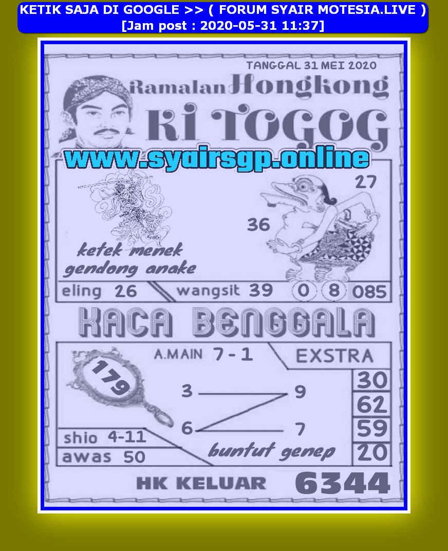 Kode syair Hongkong Minggu 31 Mei 2020 151