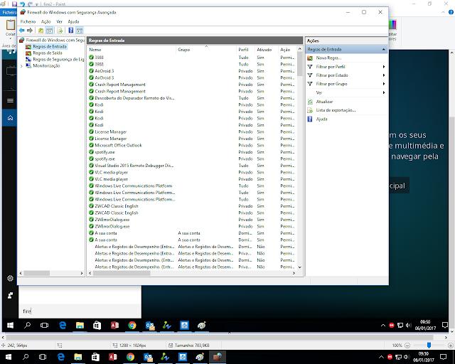 Config Firewall Windows