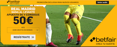 betfair supercuota liga Real Madrid gana Levante 22 febrero 2020