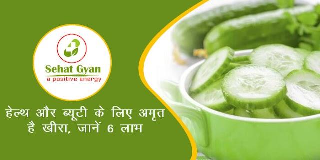 हेल्थ और ब्यूटी के लिए अमृत है खीरा, जानें 6 लाभ | Cucumber are Nectar for Health and Beauty, Learn 6 Benefits