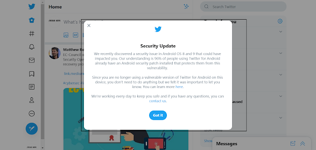 New Twitter Security Vulnerability In Android Leak Private Messages