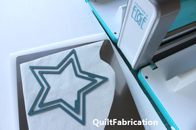 die cutting two nested stars