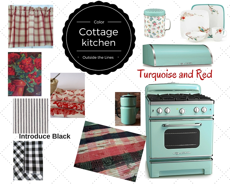 Swell A Joyful Cottage Cottage Kitchen Big Chill Color Of The Month Home Interior And Landscaping Ologienasavecom