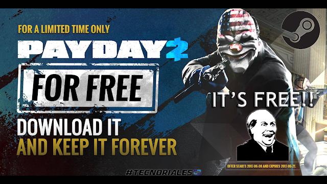 Promoción Payday 2 gratis