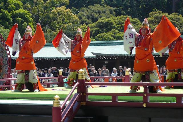 Spring Festival at the Meiji Shrine in Yoyogi Park in Tokyo