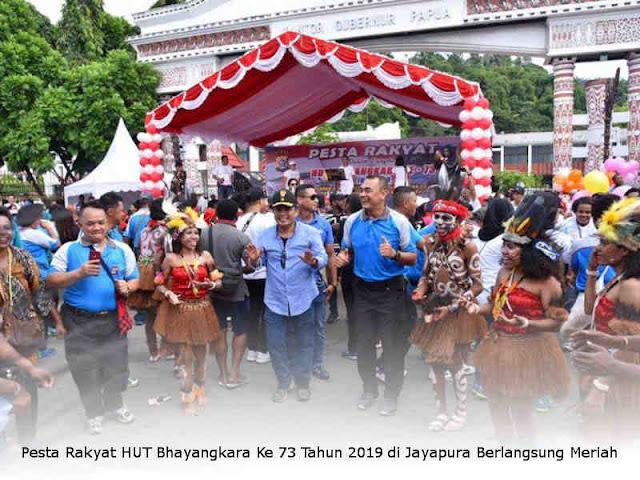 Pesta Rakyat HUT Bhayangkara Ke 73 Tahun 2019 di Jayapura Berlangsung Meriah