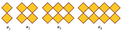 Dengan memperhatikan gambar tersebut. Ada berapa banyak belah ketupat pada a100 ?