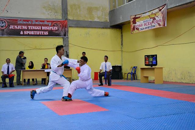 Potret Arena, Kejuaraan Karate Indonesia, Kumite Putra, Pekan Olah Raga Aceh