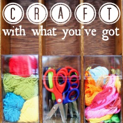 Craft With What You've Got -- this week's theme is CRAFT PAINTS