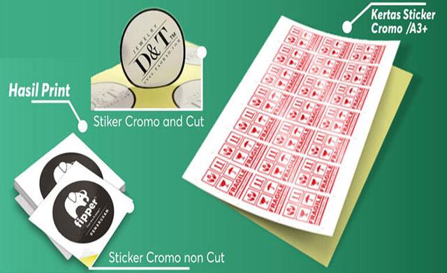 kertas stiker chromo