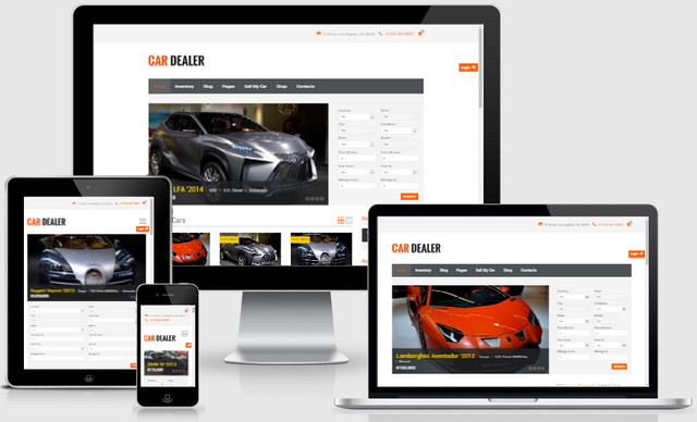 Car Dealer Automotive Responsive Wordpress Themes