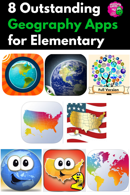 Are you looking for add more geography in your upper elementary or middle school classroom? Check out these eight outstanding geography apps!