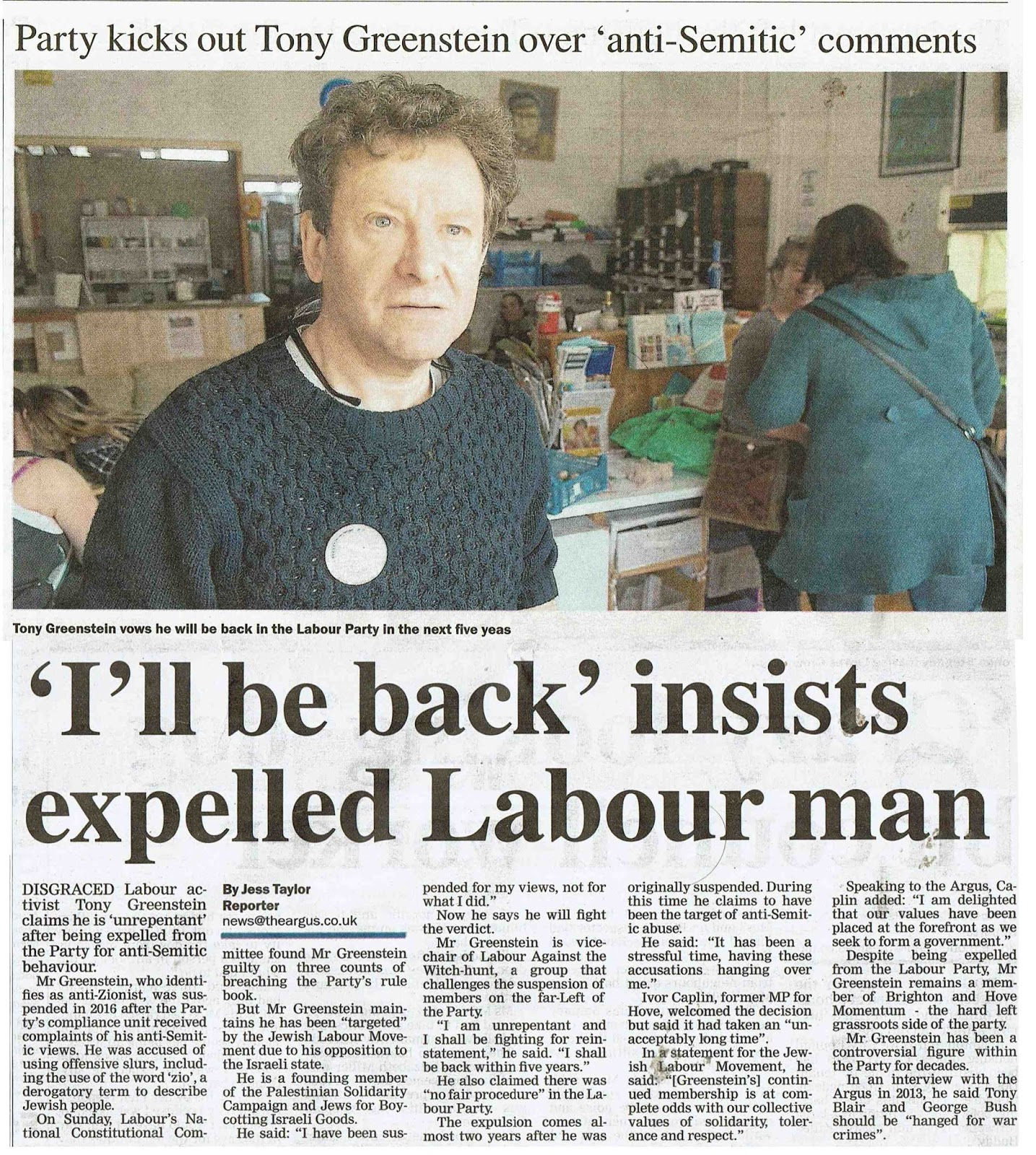 Tony Greenstein's Blog: How to Cure the Labour Party of ...