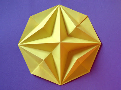 Origami, Stella in ottagono 2 - Octagonal Star 2 © by Francesco Guarnieri