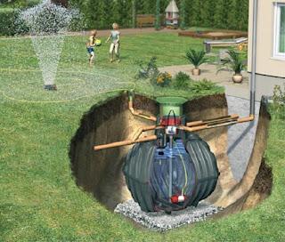 sistema septico subterraneo en casa