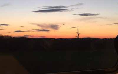 A family day trip to London with Virgin Trains East Coast - sunset on train