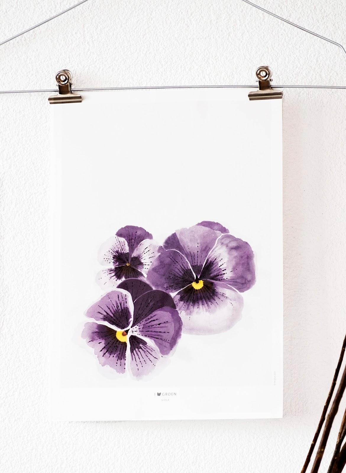 Met een kledinghanger draad, kun je ook hele mooie posters en foto's van A4 formaat op hangen.