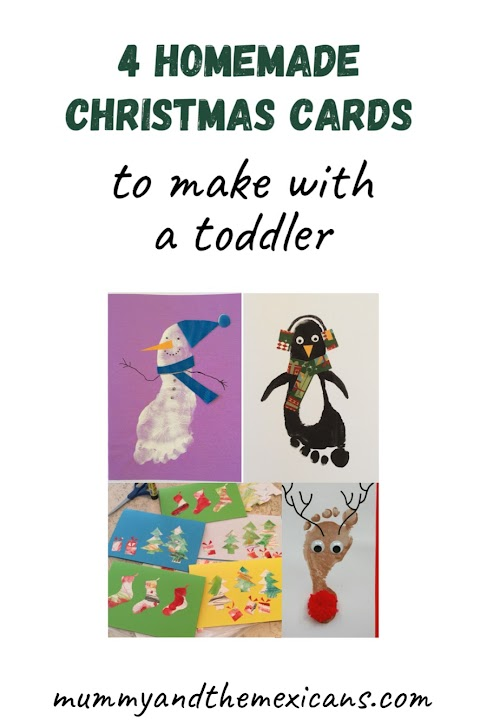 4 Homemade Christmas Cards to make with a Toddler
