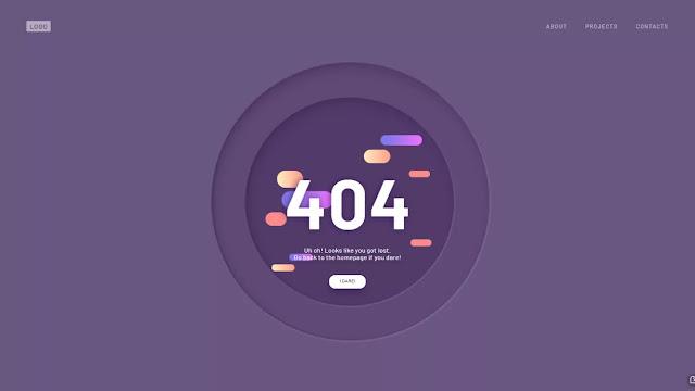 Animated 404 Error Page UI Design