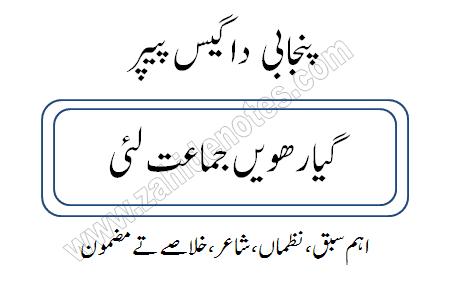 1st year Punjabi guess paper smart syllabus 2021