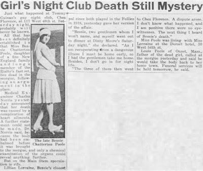 Bessie Poole Death