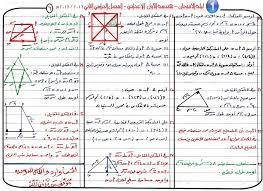 مذكرة مراجعة مادة الهندسة